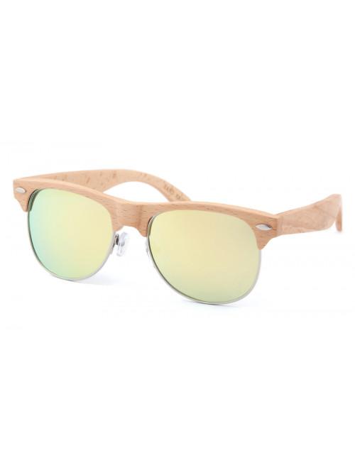 Dřevěné sluneční brýle Clubmaster Pineapple