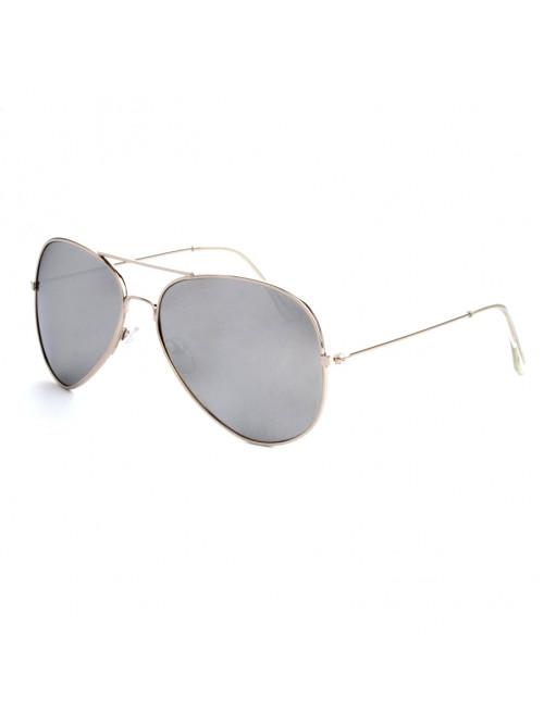 Sluneční brýle Aviator Pilot Silver polarizační