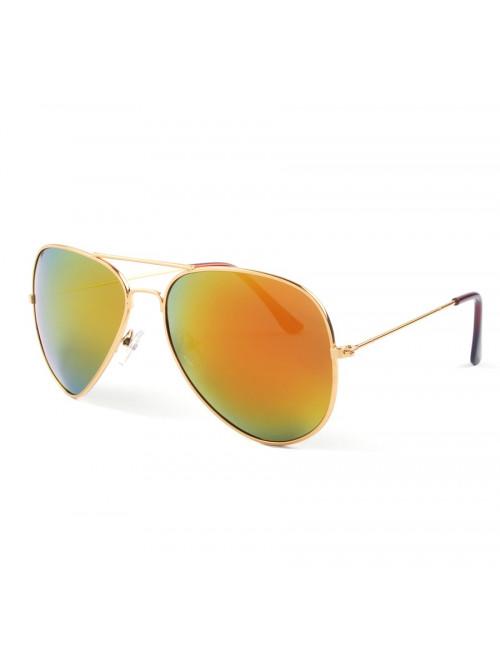 Sluneční brýle Aviator Pilot Flame polarizační