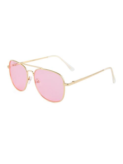 Sluneční brýle Aviator Square Pink