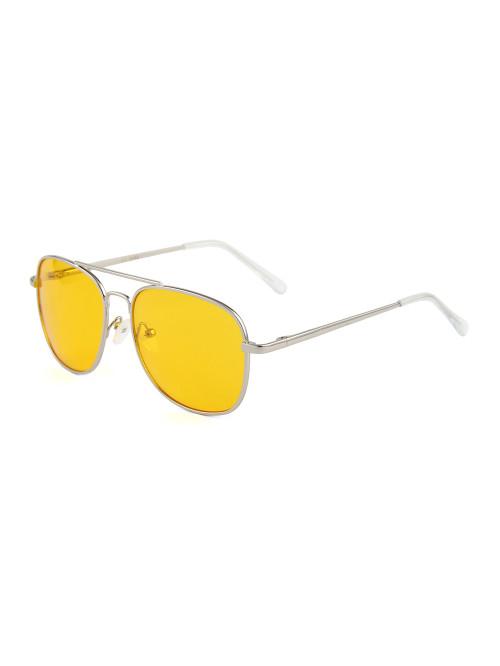 Sluneční brýle Aviator Square Yellow