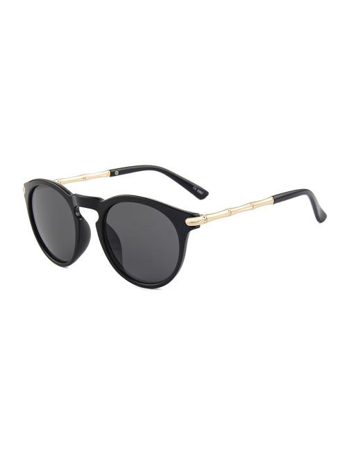 Sluneční Brýle Keyhole Round Black