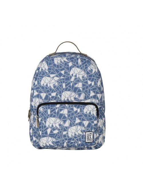 Modrý batoh se vzorem medvěda The Pack Society