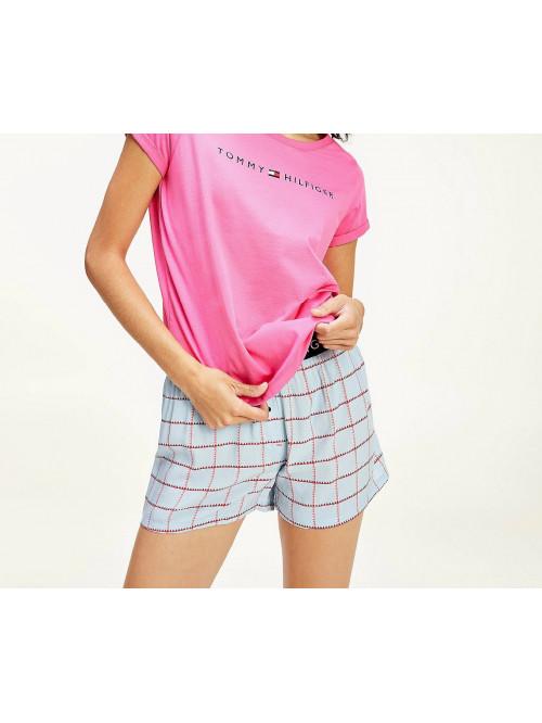 Dámské tričko Tommy Hilfiger RN TEE SS LOGO růžové