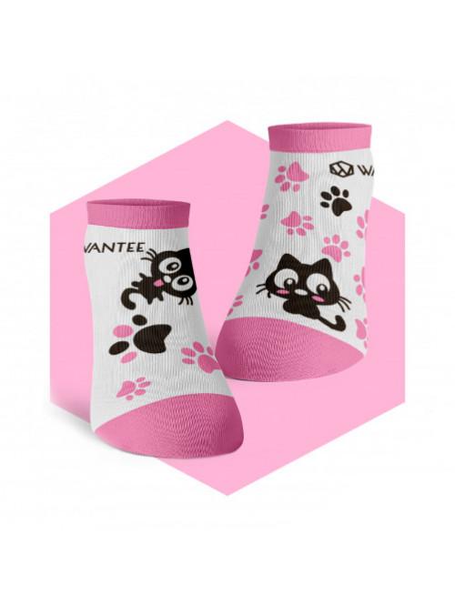 Kotníkové ponožky Roztomilé Kočičky Wantee