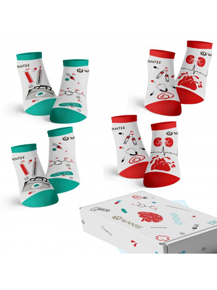Kotníkové Ponožky Medical Wantee 4-pack dárkový box
