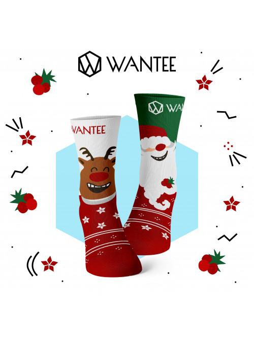 Dětské ponožky Veselý Santa a Šťastný Sob Wantee
