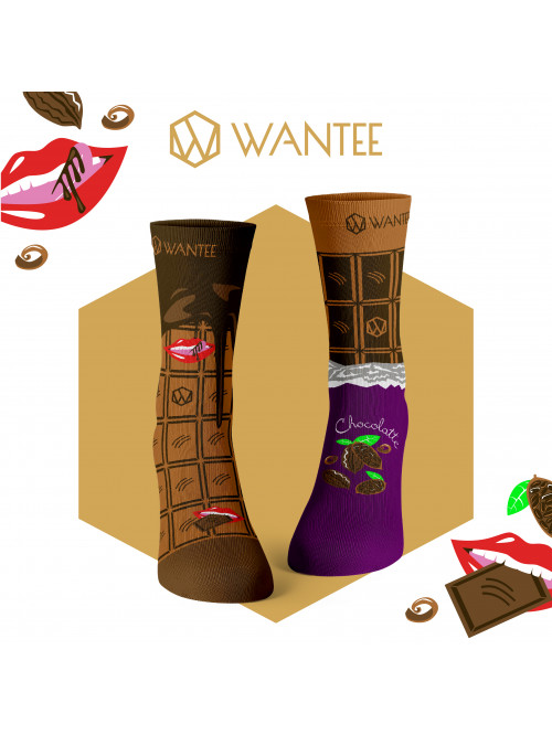 Ponožky Čokoláda Wantee
