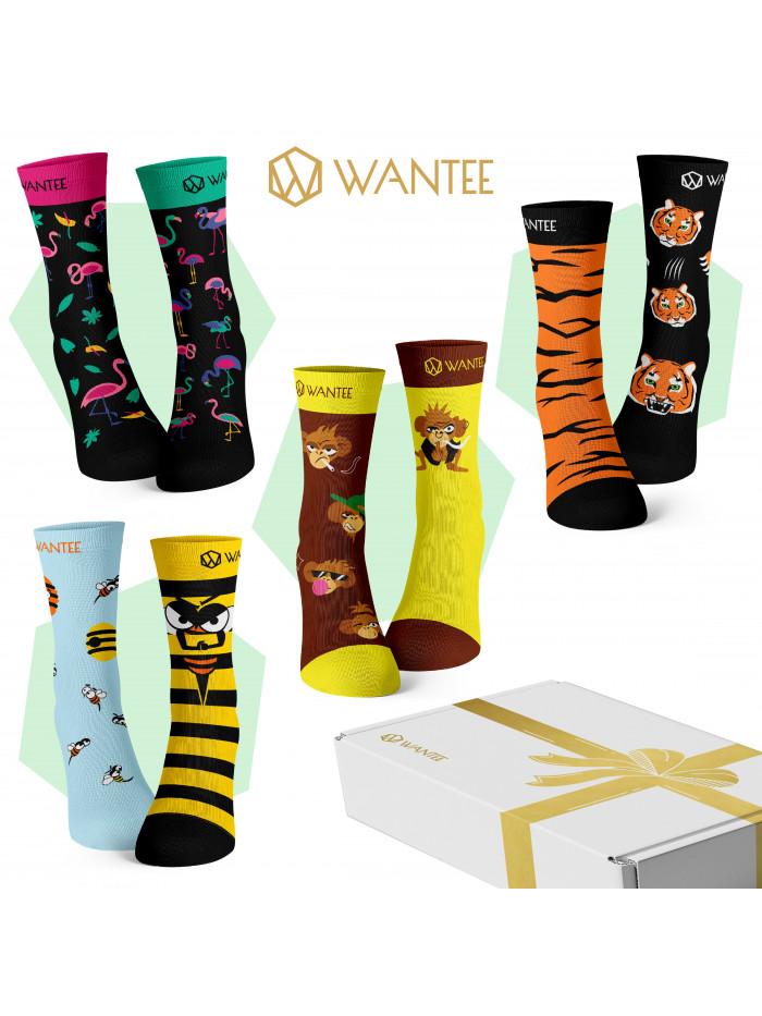 Ponožky Divoké Zvířata Wantee 4-pack dárkový box