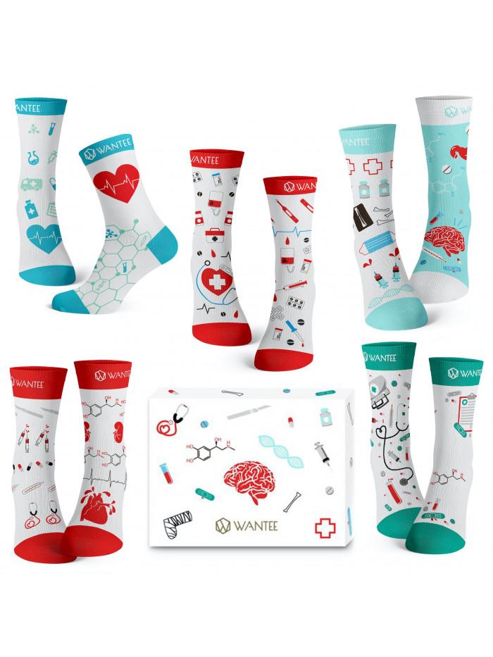 Ponožky Medical Wantee 5-pack dárkový box