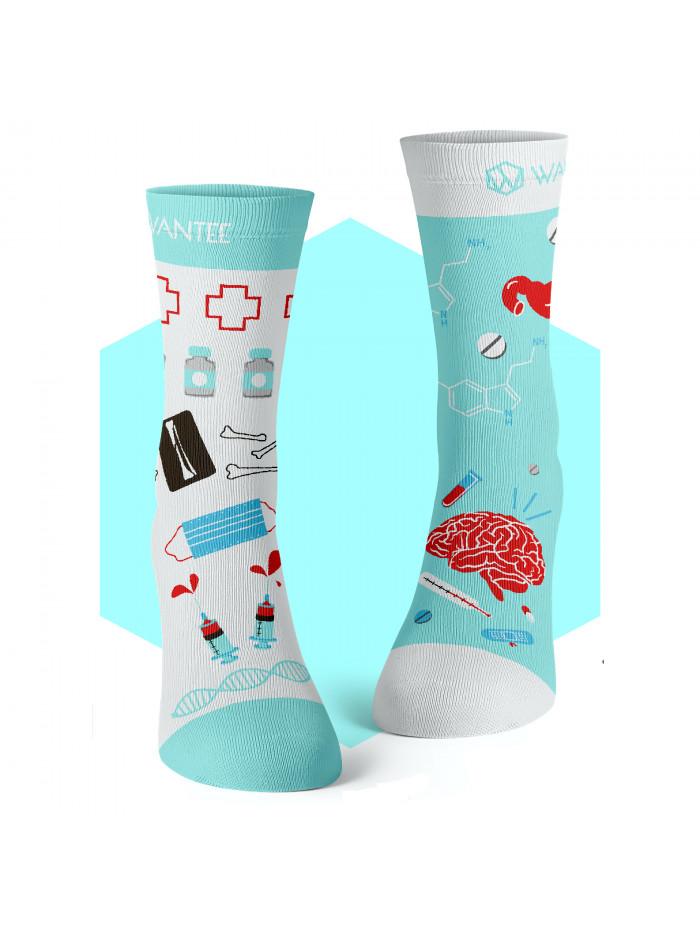 Ponožky Medical Blue Wantee