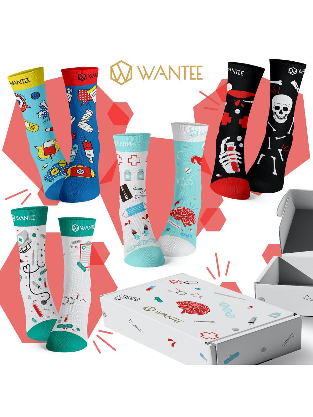 Ponožky Medical Wantee 4-pack dárkový box
