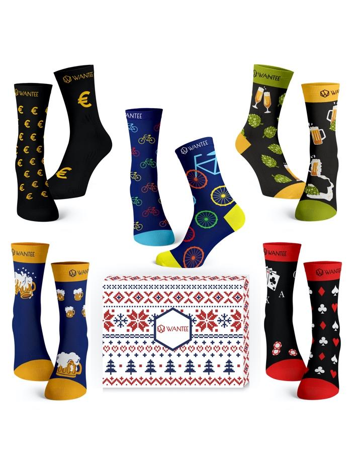 Ponožky Pánský Klub Wantee 5-pack dárkový box