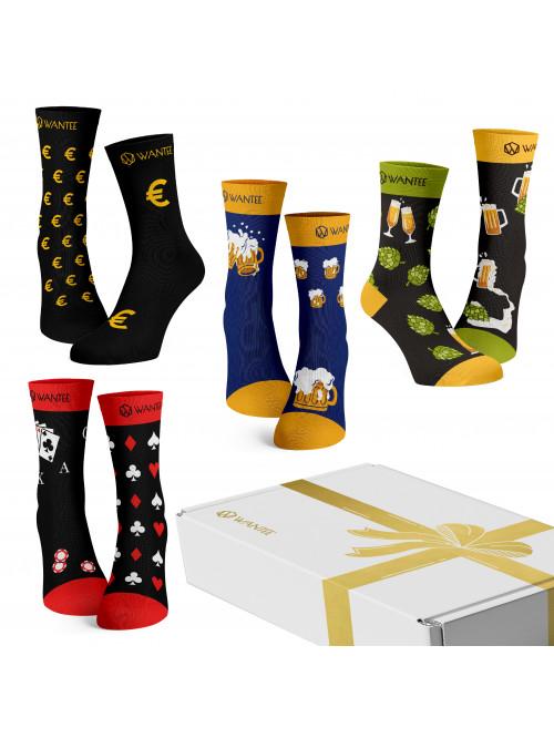 Ponožky Pánský Klub Wantee 4-pack dárkový box